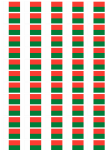 Madagascar Flag Stickers - 65 per sheet